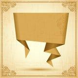 Retro origami speech bubble vector background. Eps Stock Photos