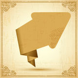 Retro origami speech bubble vector background. Eps Royalty Free Stock Images