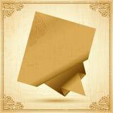 Retro origami speech bubble vector background. Eps Stock Image