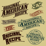 Retro Original Recipe Calligraphic Designs Royalty Free Stock Image