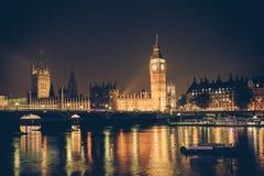 Retro orizzonte di Londra Fotografia Stock Libera da Diritti