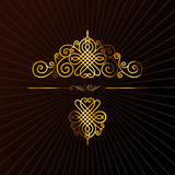 Retro ornament calligraphic  elements Royalty Free Stock Image