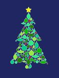 Retro Ornament Christmas Tree Royalty Free Stock Photo