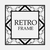 Retro ornamental frame stock illustration