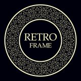 Ornamental round frame. Retro ornamental round frame, Circular ornament design element vector illustration