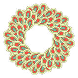 Retro ornamental round lace pattern. Circle background with many details Stock Photo