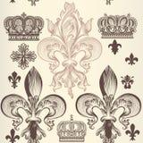 Retro ornamental seamless wallpaper pattern Royalty Free Stock Photos