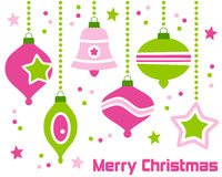 Retro Ornamenten van Kerstmis Royalty-vrije Stock Foto's
