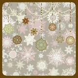 Retro Ornamenten van Kerstmis EPS 8 Royalty-vrije Stock Foto