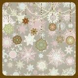 Retro Ornamenten van Kerstmis. EPS 8 Stock Foto
