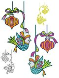 Retro Ornaments Stock Images