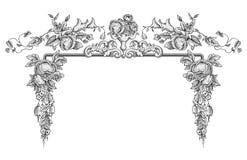 Retro ornamentvector vector illustratie