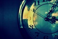 Retro orologio Fotografia Stock Libera da Diritti