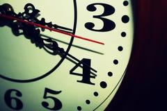 Retro orologio Fotografie Stock Libere da Diritti