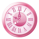 Retro orologio di stile. Immagine Stock