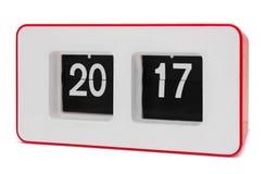 Retro orologio di vibrazione 2017 anni, percorso di ritaglio Immagine Stock
