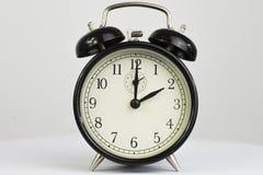 Retro orologio due della sveglia Fotografia Stock