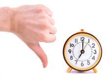 Retro orologio isolato su fondo bianco Fotografie Stock Libere da Diritti