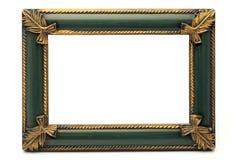 Retro Oude Gouden en Groene Frame van de Heropleving Stock Foto