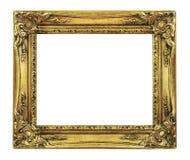 Retro Oude Gouden Frame van de Heropleving stock foto's