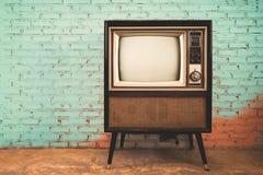 Retro oude televisie stock foto