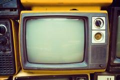 Retro oude televisie royalty-vrije stock afbeelding