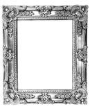 Retro Oude Zilveren Frame van de Heropleving Stock Foto