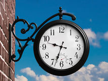 Retro outdoor clock Royalty Free Stock Images
