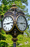 Retro outdoor clock Stock Photography