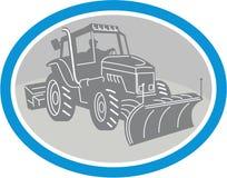 Retro oval do caminhão do arado de neve Imagens de Stock