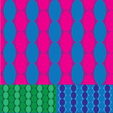Retro oval pattern Royalty Free Stock Images