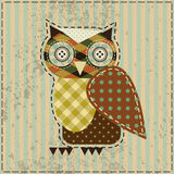 Retro owl Stock Photography