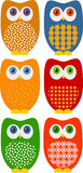 Retro Owls Royalty Free Stock Image