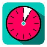 Retro Płaski projekta zegar - Pięć minut Stopwatch ilustracja wektor