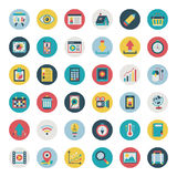 Retro płaski sieci ikony set Obrazy Royalty Free