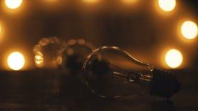 Retro płonące żarówki w loft stylu Oświetleniowy wystrój Zdjęcie Royalty Free