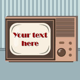 Retro płaski televisor Ilustracji