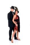 Retro paar, Hop Lindy royalty-vrije stock afbeeldingen