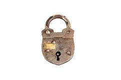 Retro padlock isolated on white Stock Image