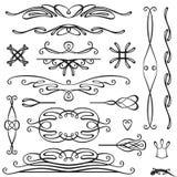 Retro page decoration Royalty Free Stock Image