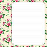 Retro page for notes Royalty Free Stock Photo