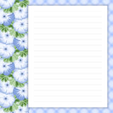 Retro page for notes Royalty Free Stock Photography