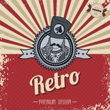 Retro page theme template Stock Images