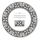 Retro pagina rotonda d'annata 237 Grey Spiral Kaleidoscope Fotografia Stock