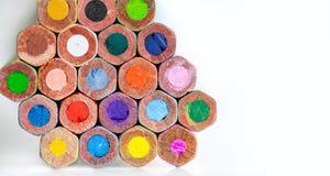 Retro palet van kunstenaarspotloden Close-up Royalty-vrije Stock Fotografie