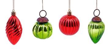 Retro palle di Natale Fotografia Stock