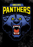 Retro panther mascot design Stock Images