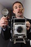 Retro- Paparazzis Lizenzfreies Stockbild