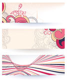Retro paper banners Stock Photo