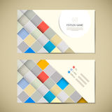 Retro Paper Business Card Template Stock Images